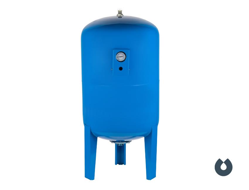 Гидроаккумулятор UNIPUMP 300 л с манометром, вертикальный