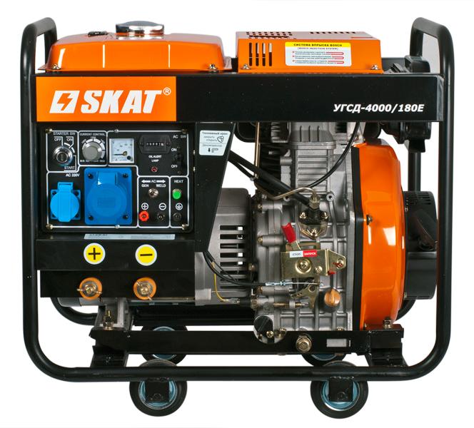 Сварочный генератор Skat УГСД-4000/180Е 4 кВт
